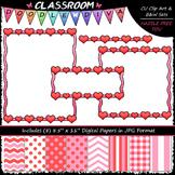 Cover Page Kit (Feb.) - Valentine Clip Art - CU Clip Art, B&W & 8.5x11 Papers
