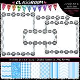Cover Page Kit (Jan.) - Snowflakes Clip Art - CU Clip Art,