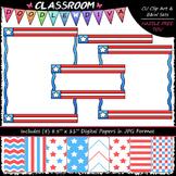 Cover Page Kit (July) - Patriotic Clip Art - CU Clip Art, B&W & 8.5x11 Papers