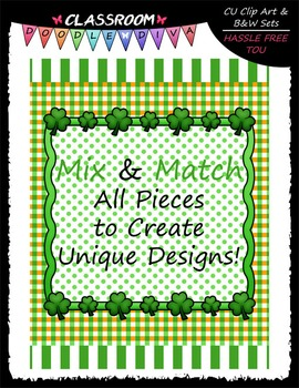 Cover Page Kit (Mar.) - St. Patrick's Day - CU Clip Art, B&W & 8.5x11 Papers