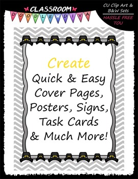Cover Page Kit (Nov.) - Pilgrim Hat Clip Art - CU Clip Art, B&W & 8.5x11 Papers