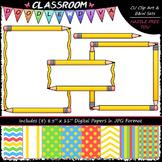 Cover Page Kit (Sept.) - Pencils Clip Art - CU Clip Art, B&W & 8.5x11 Papers