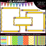 Cover Page Kit (Sept.) - Pencils Clip Art - CU Clip Art, B