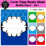 Cover Page Ready Made - Bubble Cloud Set 1