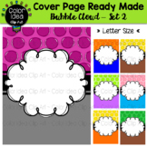 Cover Page Ready Made - Bubble Cloud Set 2