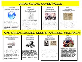 Cover Page Social Studies Unit Common Core