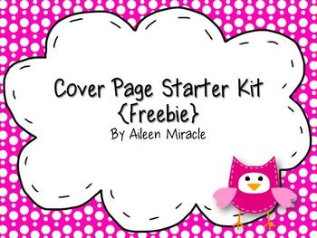 Cover Page Starter Kit {Freebie}