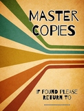 Cover Page for Master Copies - Retro Design.