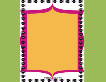 Cover Page with Spider Border Designs