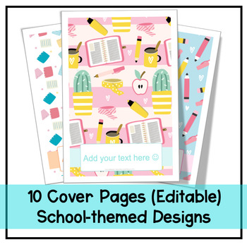Cover Pages | 10 School-themed Designs | Editable