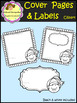 Cover Pages & Labels with kids - Clip Art (School Designhcf)
