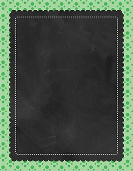 Cover Pages - Ready Made - Chalkbaord frame - Polka Dots Background