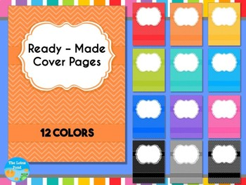 Cover Pages: Ready Made Cover Pages - Bright Chevron