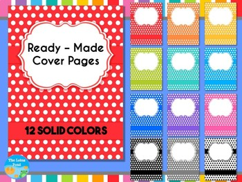 Cover Pages: Ready Made Cover Pages - Bright Polka Dots