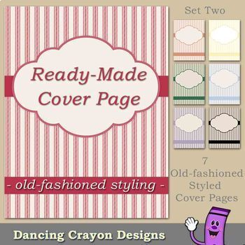 Cover Pages: Ready Made Cover Pages - Old-Fashioned Styling