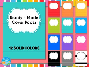 Cover Pages: Ready Made Cover Pages - Solid Brights