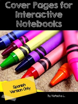 Cover Pages for Interactive Notebooks (English & Spanish)