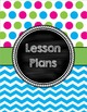 Cover Pages for Lesson Plan Binder (multi-color)