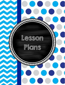 Cover Pages for Lesson Plan Binder in blues