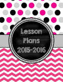 Cover Pages for Lesson Plan Binder in fuschia, black, & gray