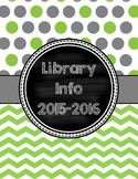 Cover Pages for Lesson Plan Binder in green & gray