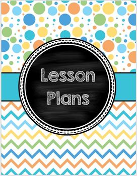 Cover Pages for Lesson Plan Binder - summer dots/chevron