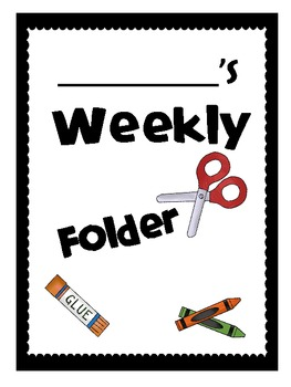 Cover Sheet for Daily or Weekly Binder