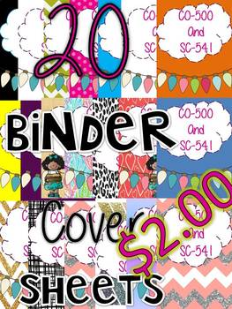 Cover Sheets binder or Folders (Can be Edited) 20 different kind ONLY $2.00 !!