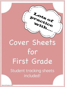 Cover Sheets for Grade 1 Math and ELA