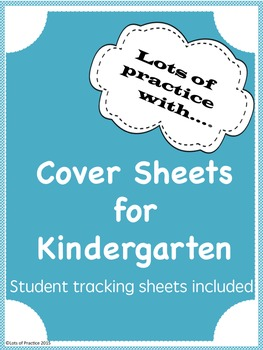 Cover Sheets for Kindergarten Math and ELA