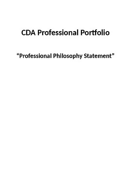 Cover Sheets for the Six Reflective Statements