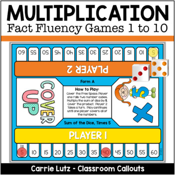 Cover Up ~ A Multiplication Game  A FUN Way to Learn Multiplication Facts!