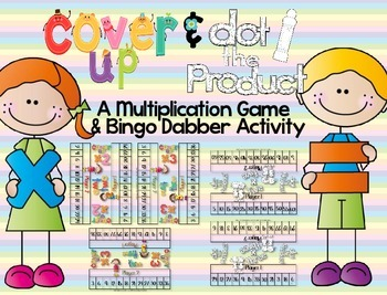 Cover Up & Dot the Product ~ A Multiplication Game And Bin