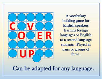 Cover Up: A game for Foreign Language and ESL Vocabulary I