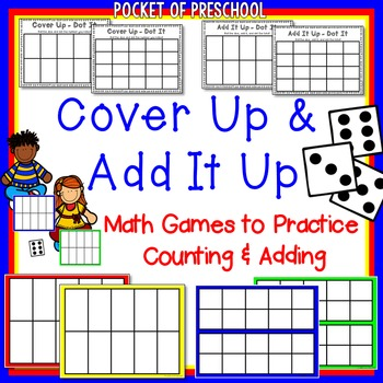 Counting & Addition Game - Cover Up for Preschool, Pre-K, and ...
