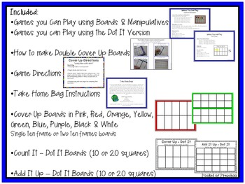 Counting & Addition Game - Cover Up for Preschool, Pre-K, and Kindergarten