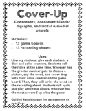 Cover Up - Consonants, consonant blends/digraphs, initial/