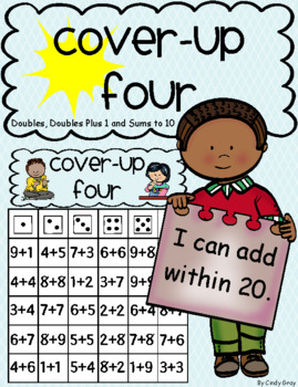 Cover-Up FOUR ~ Doubles, Doubles Plus 1 and Sums to 10