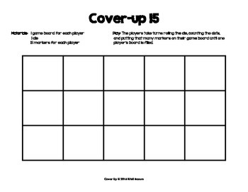 Cover Up Math Games