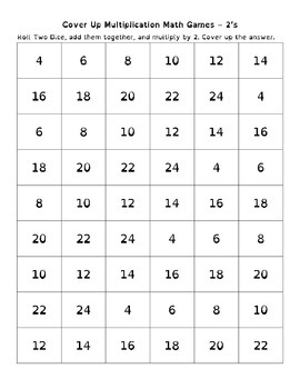 Cover Up Multiplication Math Games