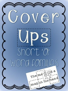 Cover Ups: Short A Word Family Activity Booklets