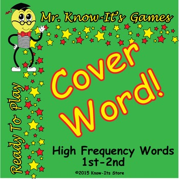 Cover Word Game (Sight Words/High Frequency Words)