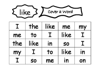 Cover a word
