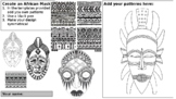 "Cover art lesson ""Create an African pattern mask"" suitable"