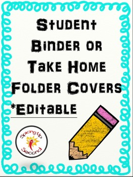 Cover for Student Take Home Folders {Editable}