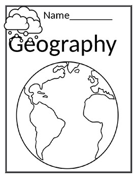 Cover page- Geography