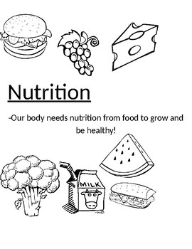 Cover page- Nutrition
