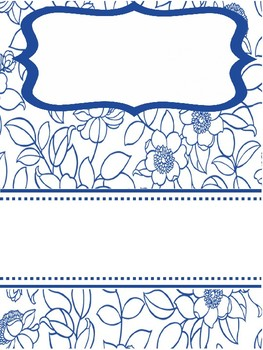 Cover page -flowers