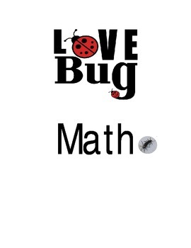 Cover page for Love Bug Math Timed Drills