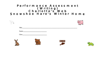 Cover sheet for Charlotte's  Web and Snowshoe Hare's Winter Home